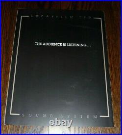 THX Sound System LUCASFILM LTD Movie Theater EXTREMELY RARE Program LAST ONE