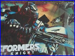 TRANSFORMERS 5 The LAST KNIGHT Movie Theater Vinyl Banner Poster 6' x 12' UNUSED