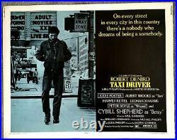 Taxi Driver 1976 Vintage Original 22 X 28 Movie Theater Poster Robert Deniro