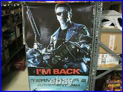 Terminator 2 Judgment Day Original Movie Theater Lobby 3' Poster Schwarzenagger