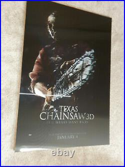 Texas Chainsaw Massacre 3D Movie RARE LENTICULAR THEATRE DISPLAY POSTER 27x40