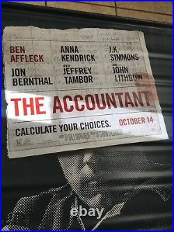 The Accountant 8ftx5ft Movie Theater Vinyl 1 Sided Authentic Regal Cinema