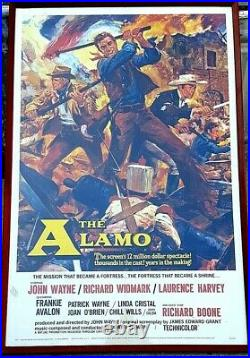 The Alamo 1960 San Antonio Premier Movie Poster From The Woodlawn Theater