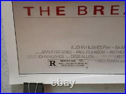 The Breakfast Club Movie Theater Poster 1985 Original Rolled 27x41