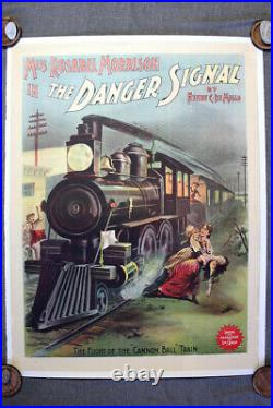 The Danger Signal (1891) 20.25 x 40.5 US Theater Poster LB