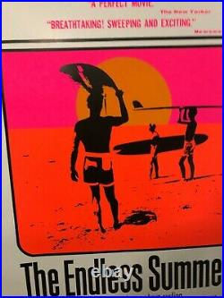 The Endless Summer 1990's Movie Theater Promo Poster One Sheet Classic