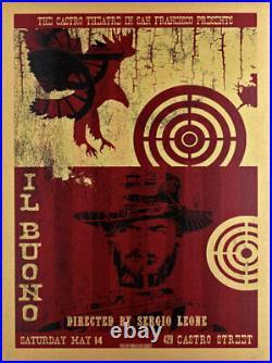 The Good Bad and Ugly Silkscreen Movie Poster Castro Theatre O'Daniel Il Buono