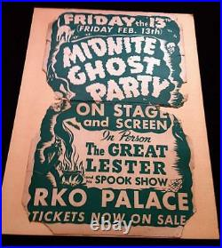 The Great Lester Midnite Ghost Party Spook Show Friday the 13th RKO Theatre1942