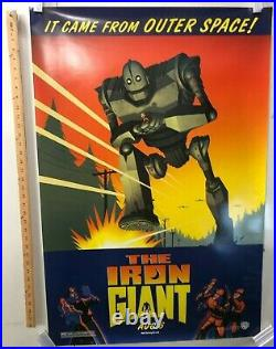 The Iron Giant Original Movie Theater Promo Poster 1999 Jennifer Aniston SS