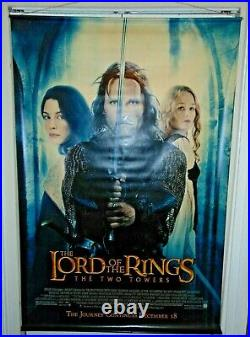 The Lord Of The Rings The Two Towers (2002) Vinyl Theater Movie Lobby Banner