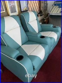 The Original Metro Retro Movie Theatre Chair Home Cinema Seating Sofa Trq Doubl
