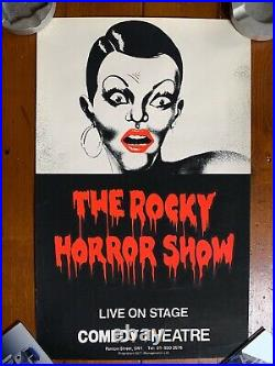 The Rocky Horror Picture Show (1979) Original Silkscreen Theatre Poster MINT