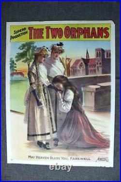 The Two Orphans Erie Litho Co. New York (1900's) 21.675 x 27.5 US Theater