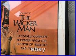The Wicker Man 1974 Original Movie Film Framed Poster, rare US theatre litho