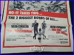 Thunderball R-1970 James Bond 007 Sean Connery 1 Sheet Plus Theater Cards