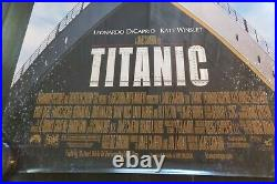 Titanic Movie Poster Signed by Leonardo DiCaprio 27 X 40 1997 Theater Issue