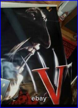 Ultra Rare Freddy Vs Jason Huge Vinyl movie theater banner