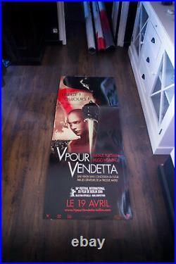 V FOR VENDETTA Kit 2 Theater Cardboard Standee in Box 2005
