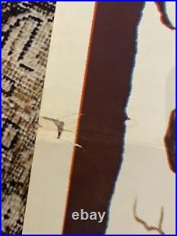 VINT MOVIE POSTER ORIG BLACK SABBATH 1964 BORIS KARLOFF HEADLESS HORSEMAN Folded