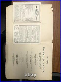 VINTAGE Birth Of A Nation 1915 Movie Souvenir Book And Theater Pamphlet RARE