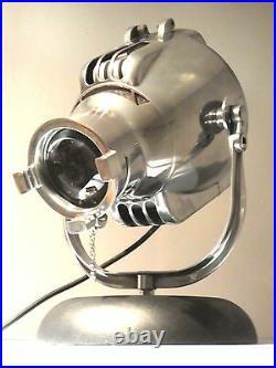 VINTAGE STRAND THEATRE SPOT LIGHT DESK LAMP 50s EAMES FILM RETRO ALESSI SILVER