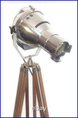 VINTAGE THEATRE LIGHT ANTIQUE FLOOR FILM STUDIO LAMP MAJOR STRAND ART DECO 50s