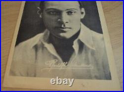 VTG 1920's'GRANADA THEATRE' Silent Movie FlyerThe SHEIKRudolph VALENTINO