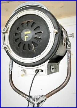 Vintage 1960s Film Studio Spot Light Movie Industrial Antique Floor Lamp Theatre