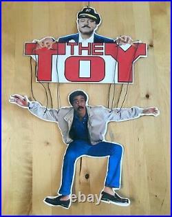 Vintage 1982 THE TOY Movie Theater Promo Sign Richard Pryor Jackie Gleason 1980s