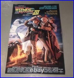 Vintage BACK TO THE FUTURE 3 III (1989) Unused Large Movie Theater Lobby Standee
