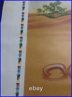 Vintage Disney Aladdin Big Rare Original Vinyl Movie Poster Theatre Banner Uncut