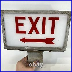 Vintage Electric LIGHTED Drive In Movie Theater EXIT Sign WORKS Rewired