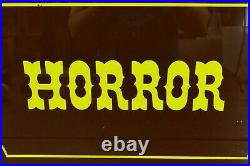 Vintage HORROR Movie Theater Cinema Genre Lobby Advertising Diecut Sign