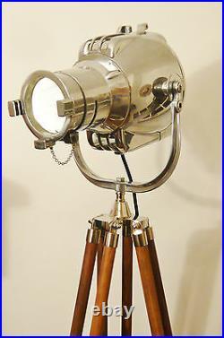 Vintage Movie Theatre Light Antique Floor Lamp Eames Starck Strand Jielde Silver
