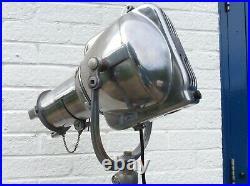 Vintage Stage Spot Lamp Antique Alloy Original Stand Art Deco Film Theatre light
