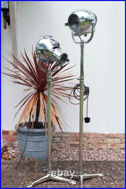 Vintage Strand Electric 23 Or 123 Theatre Stage Film Floor Light Lamp Tri Stand