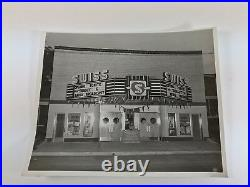 Vintage Swiss Movie Theater & Marquee Photograph, Tell City, Indiana, 1948