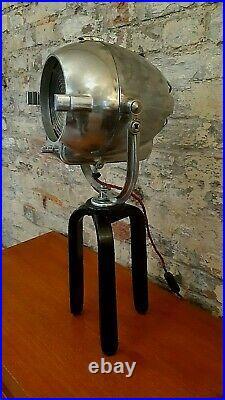 Vintage Theatre Light Antique Lamp Film Studio Art Deco Strand Patt 123 Stand