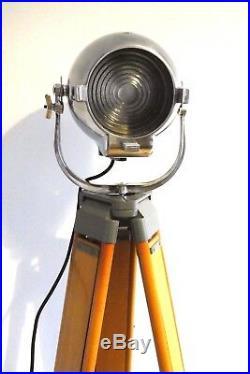 Vintage Theatre Spot Light Antique Studio Film Lamp Industrial Strand Carl Zeiss