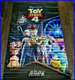 Vinyl Double Sided 95 X 60 Movie Theater Posters Aladdin & Toy Story 4