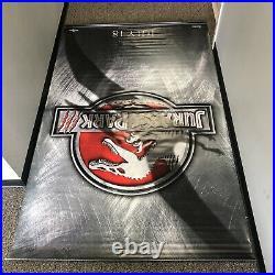 Vtg Jurassic Park III 3 Vinyl 2-Sided Theater Display Poster Banner 2001 93x59