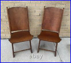 Vtg Movie Theater Row, 2 seats Bench Wood Folding Victorian Old Wedding Funeral