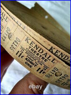 Vtg lg Roll of Movie Theatre Tickets for KENDALL Theatre Farmer City, IL 11 Cent