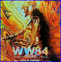 WONDER WOMAN 1984 WW84 2020 Original 8X8' Movie Theater Vinyl Banner Gal Gadot