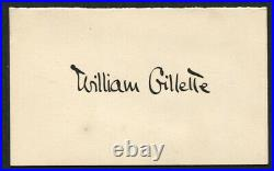 William Gillette Signed Card HOOLEY's Theatre Letter Cover CHICAGO 1897 USA