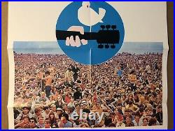 Woodstock German Original Vintage Poster Movie Theater Promo Pin-up 1970s WB