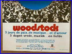 Woodstock Original Vintage Poster Movie Theater Promo Pin-up 1970s WB French